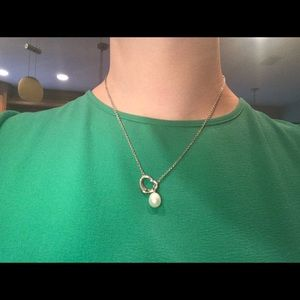 Tiffany & co. Pearl drop heart necklace